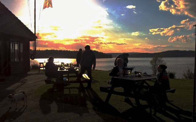 Sunset and Barbecue