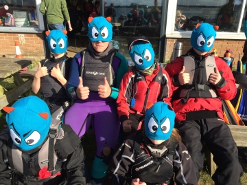 The Kielder Osprey Team at the Eric Twiname Team Racing Championships.