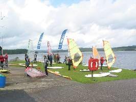 Windsurfers ashore